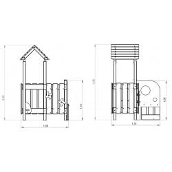 La prairie - plan 1 - structure de jeu extérieur - Ouno by Proludic