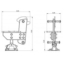 Saturnin - plan 1 - structure de jeu extérieur - Ouno by Proludic