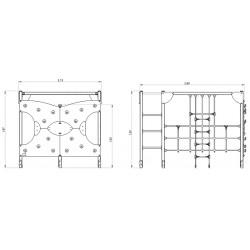 Le cube d'escalade - plan 1 - structure de jeu extérieur - Ouno by Proludic