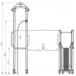 Le passage fantastique - plan 1 - structure de jeu extérieur - Ouno by Proludic