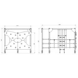 La varappe infernale - plan 1 - structure de jeu extérieur - Ouno by Proludic