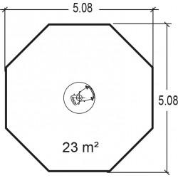 Le manège - plan 2 - structure de jeu extérieur - Ouno by Proludic