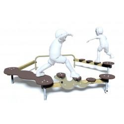 Parcours d'équilibre - vue de face - structure de jeu extérieur - Ouno by Proludic
