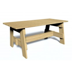 Table - vue de face - mobilier urbain - Ouno by Proludic