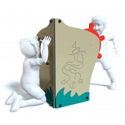 Le bateau - vue de face - structure de jeu extérieur - Ouno by Proludic