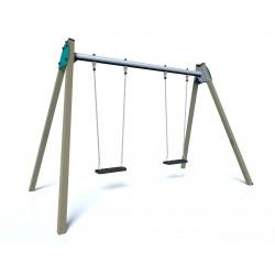 Balançoire CITY - vue de face - structure de jeu extérieur - Ouno by Proludic