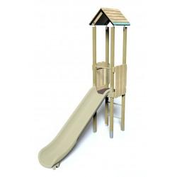Ma cabane perchée - vue de face - structure de jeu extérieur - Ouno by Proludic