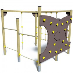 Le parcours de grimpe - vue de face - structure de jeu extérieur - Ouno by Proludic