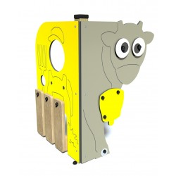 La vache - vue de face - structure de jeu extérieur - Ouno by Proludic