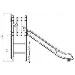 Le moulin - plan 1 - structure de jeu extérieur - Ouno by Proludic