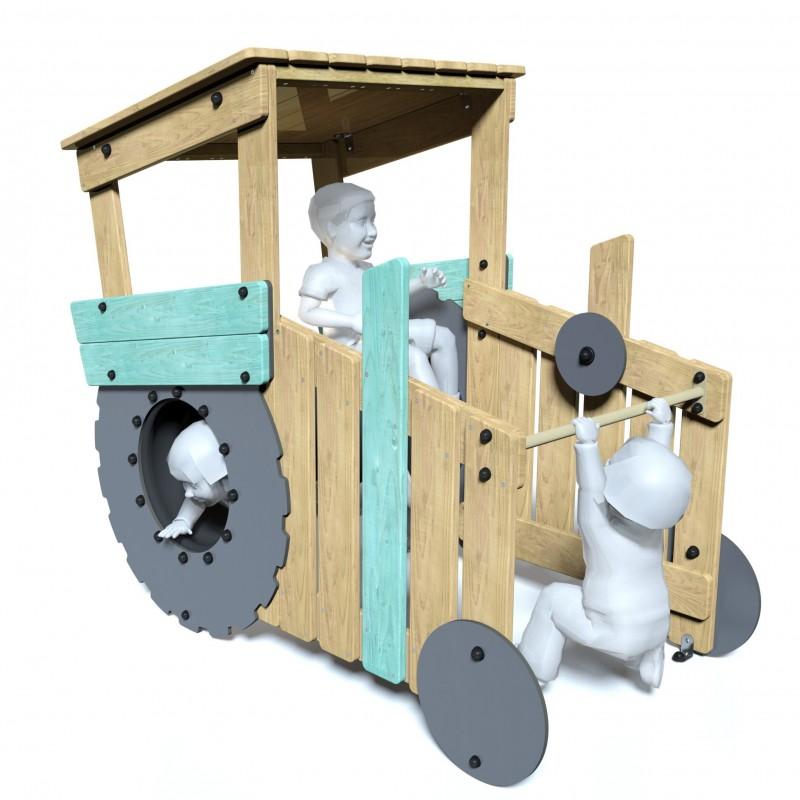 Le tracteur - vue de face - structure de jeu extérieur - Ouno by Proludic