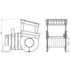 Le tracteur - plan 1 - structure de jeu extérieur - Ouno by Proludic