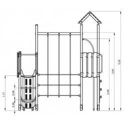 La vallée - plan 1 - structure de jeu extérieur - Ouno by Proludic