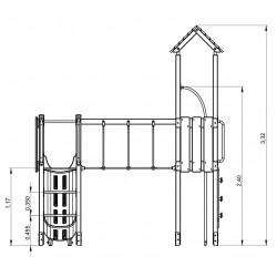 La cabane tropicale - plan 1 - structure de jeu extérieur - Ouno by Proludic