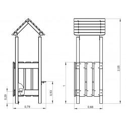 La hutte - plan 1 - structure de jeu extérieur - Ouno by Proludic
